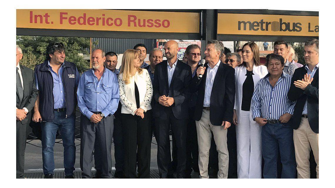 Macri inauguró el Metrobus de La Matanza junto a Magario