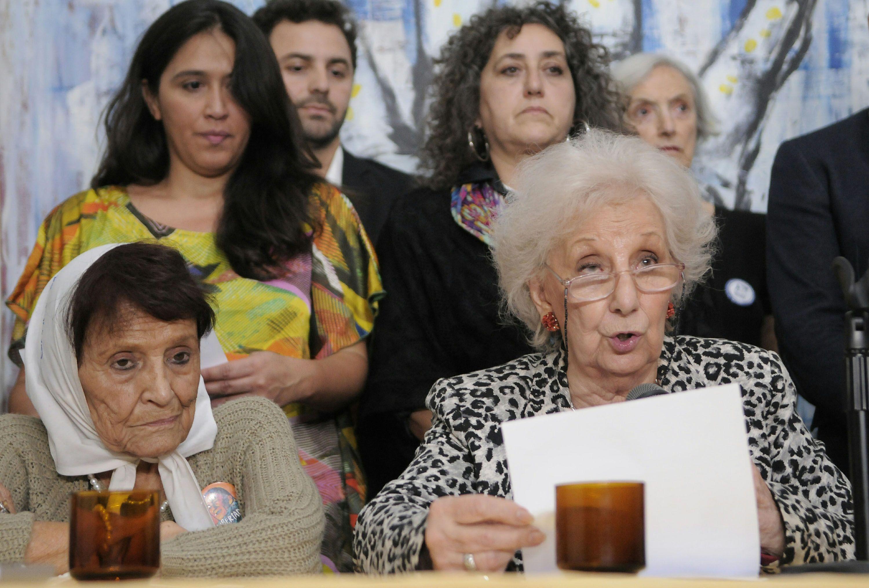 Carlotto en la conferencia de Abuelas por el fallo del 2x1 del Corte