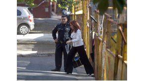 Cristina Kirchner ingresando a Comodoro Py