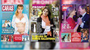 Florencia Peña y Marita Ballesteros en las tapas de revistas