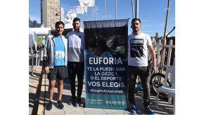 Manuel Mosca junto a Patricio Garino y Sebastian Crismanich