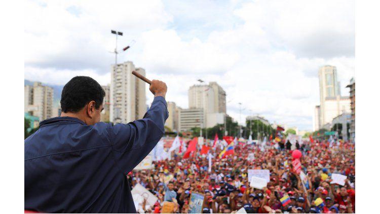 Nicolás Maduro encabezó el acto oficial por el día del trabajador