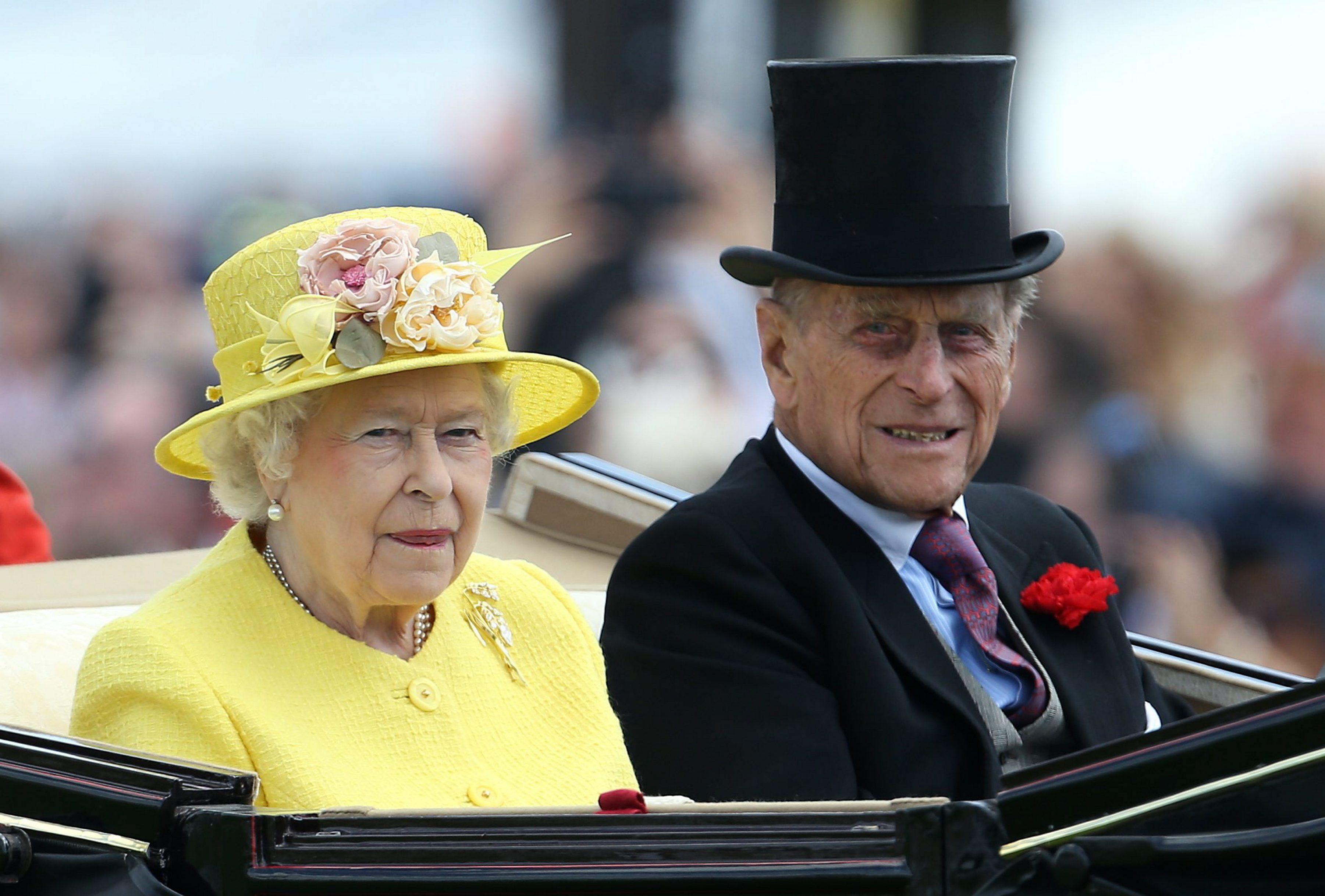 La reina Isabel II y el príncipe Felipe de Edimburgo