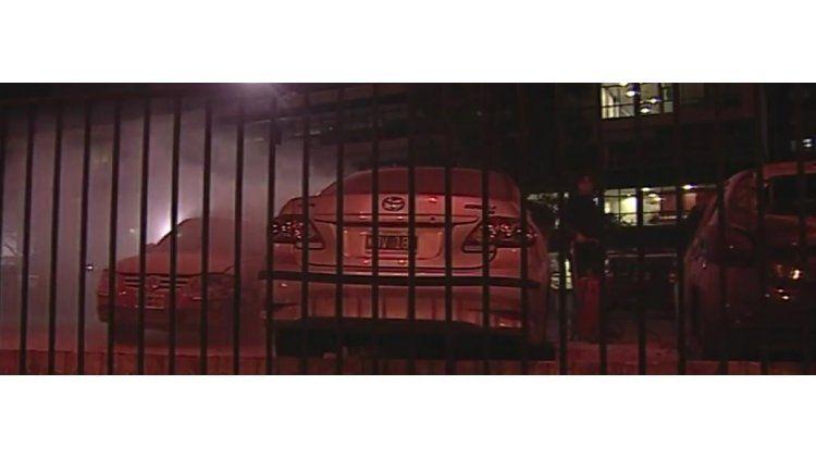 Se incendiaron cuatro autos en el hospital Posadas