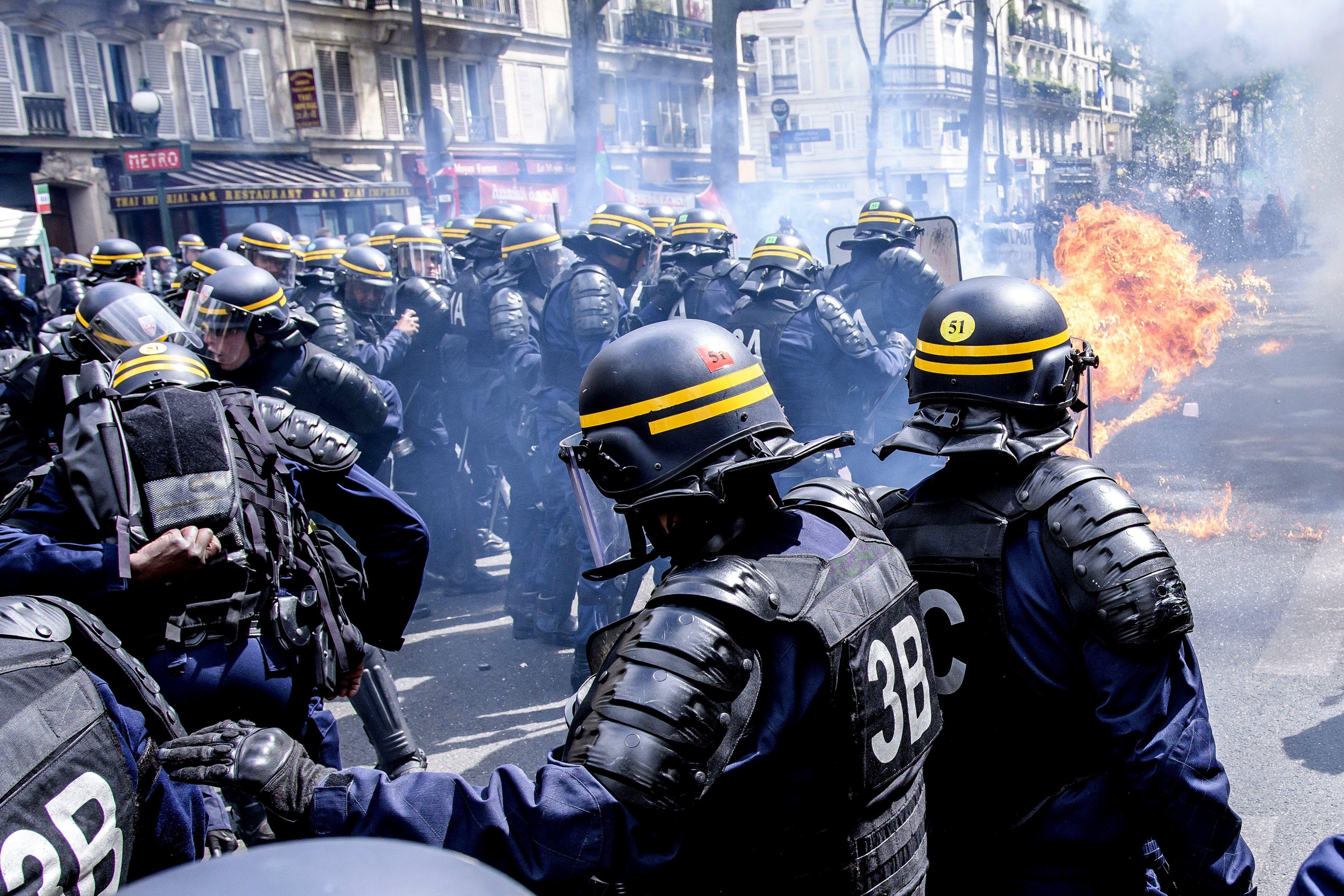 Incidentes en los actos por el Día del Trabajador en Francia