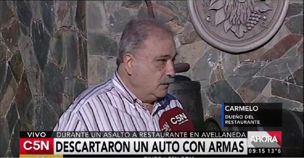 Habló el dueño del restaurante en Avellaneda en el que mataron a un ex policía