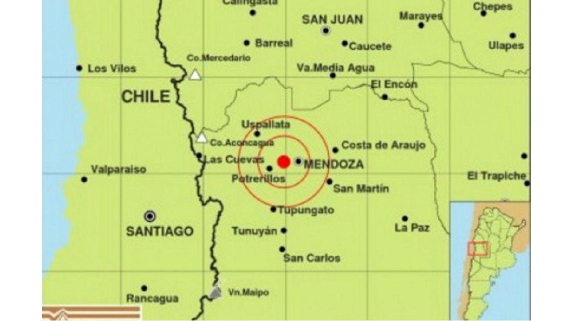 Otro sismo afectó a la provincia de Mendoza