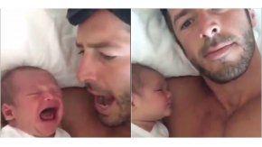 Papá duerme bebé