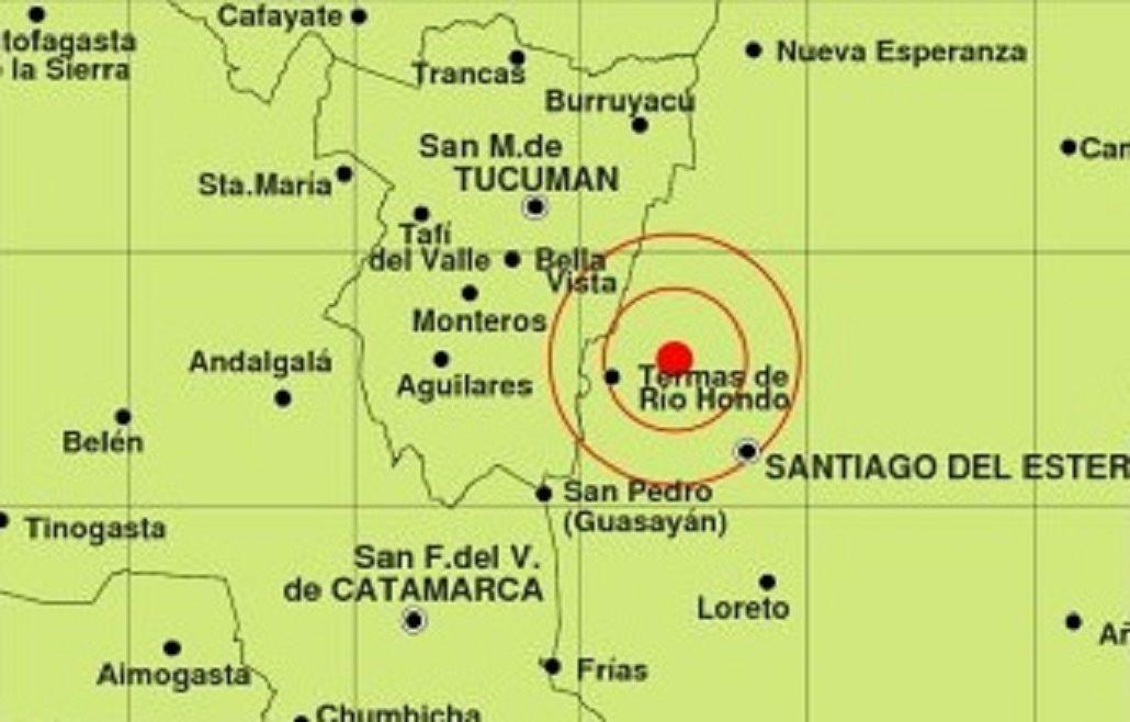 Sismo de 3.5 escala Mercali en Santiago del Estero