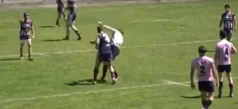 Noqueó al árbitro de un partido de rugby
