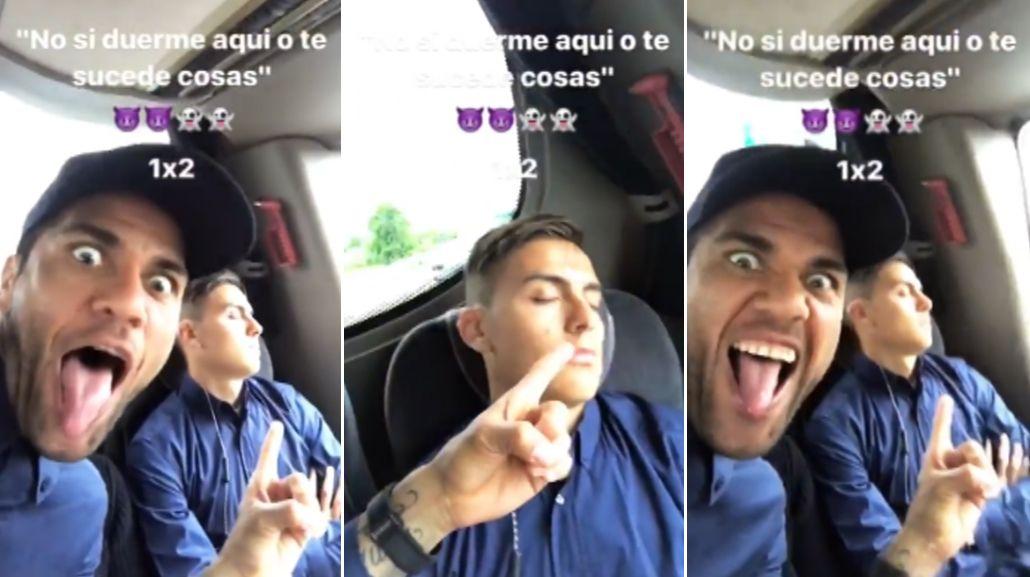 Paulo Dybala se durmió...y Dani Alves se aprovechó de él