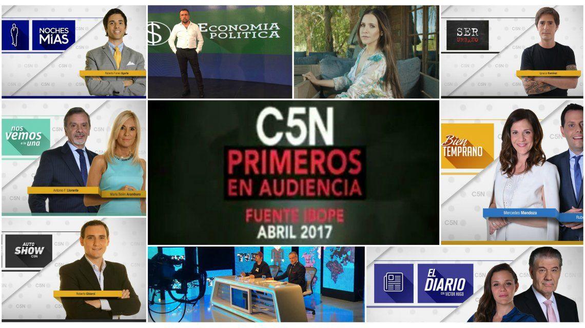 C5N primero en audiencia en abril