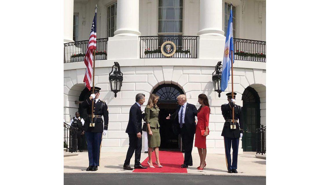 Donald Trump recibió a Macri en la Casa Blanca