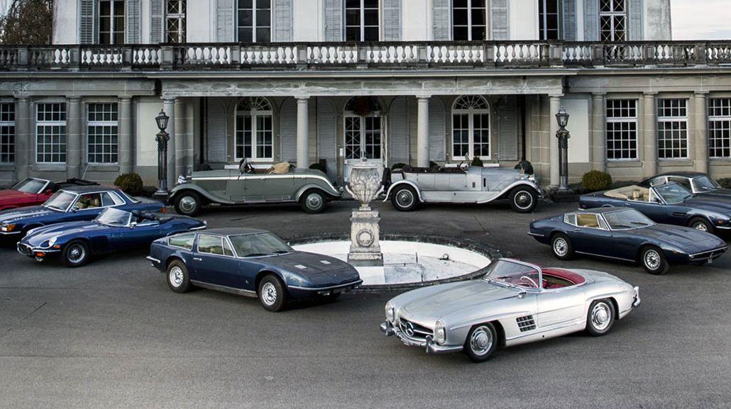 Las 12 autos de lujo ocultas en un castillo europeo
