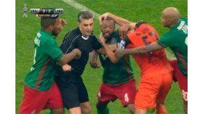 La brutal pelea en la final de la Copa de Rusia
