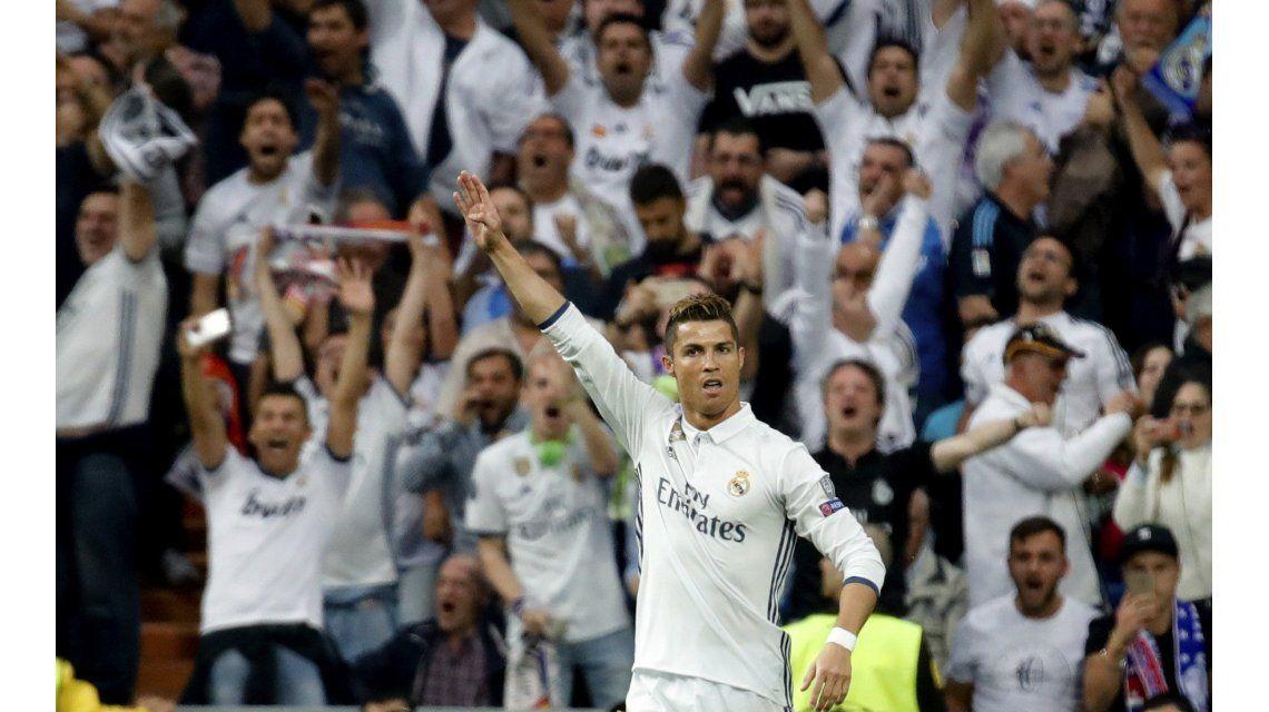 El festejo de Cristiano Ronaldo ante su gol ante Atlético Madrid por Champions
