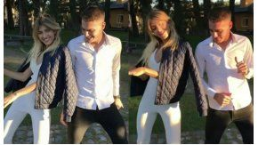 Cande y Stephan Ruggeri bailando Despacito