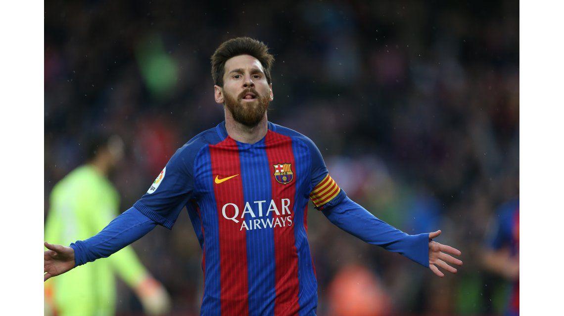 El festejo de Lionel Messi ante Osasuna
