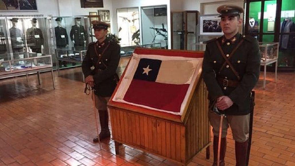 La bandera que será restituida