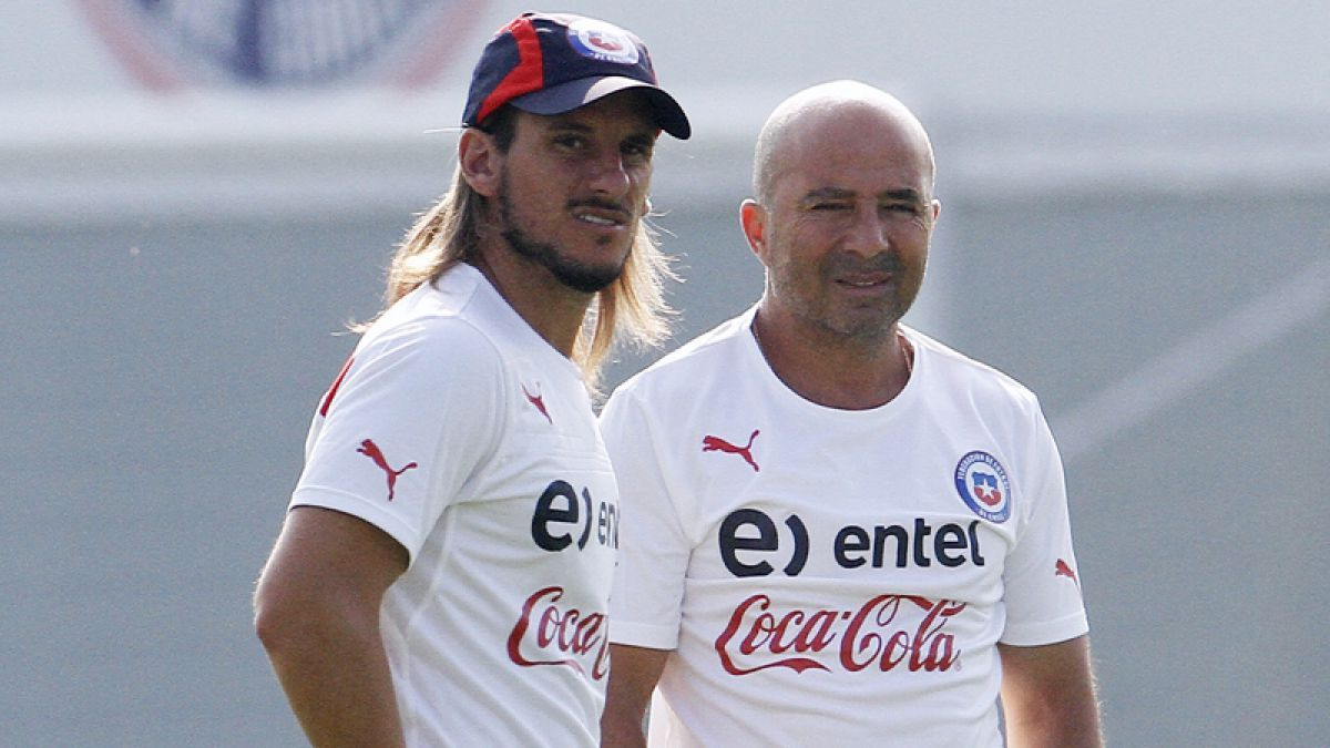Jorge Sampaoli y Sebastián Beccacece