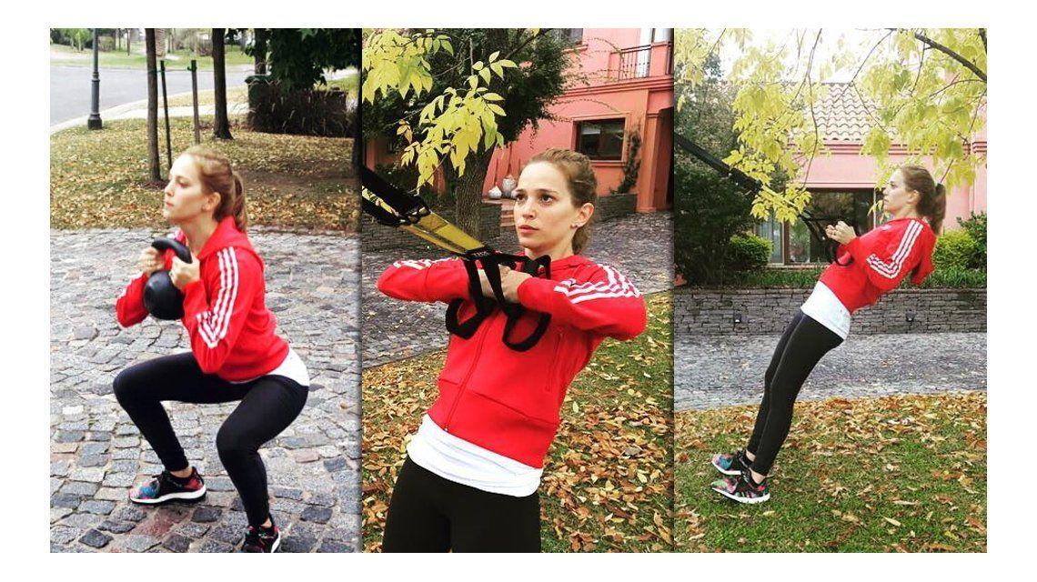 Luisana Lopilato hace gym