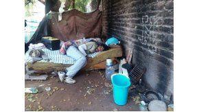 Habló el indigente quemado en Mendoza - Crédito: Diario Uno
