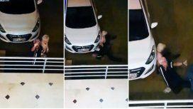 Una pareja de abuelos borracho se pegó un duro golpe