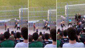 Dos hinchas de San Martín se pelearon en plena tribuna