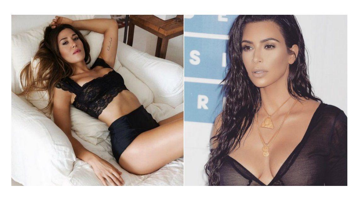 Jimena Barón publicó una foto de su cola y se comparó con Kim Kardashian.