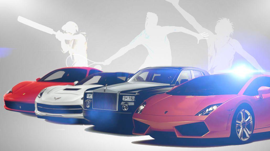 ¿Podés descubir a qué deportista corresponde cada auto?
