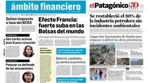 Tapas de diarios del martes 25 de abril de 2017