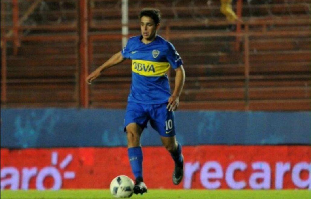 El juvenil Maroni jugando para la Reserva de Boca