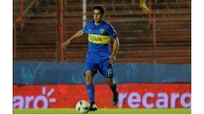 El juvenil Maroni jugando para la Reserva de Boca, con la 10 en la espalda