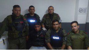 Dario Badaracco al ser detenido por Gendarmería Nacional