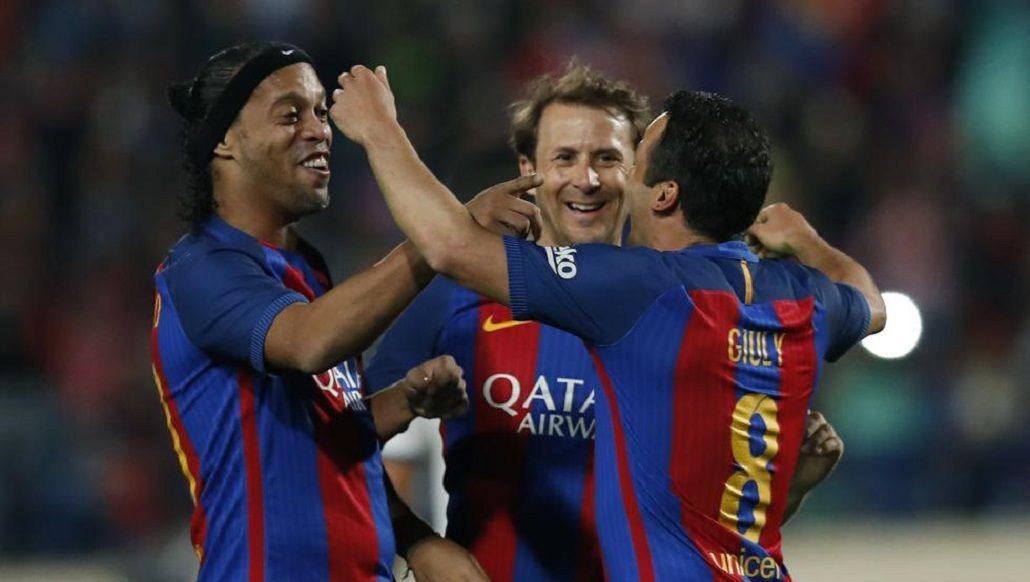 Ronaldinho jugó entre 2003 y 2008 en el Barcelona