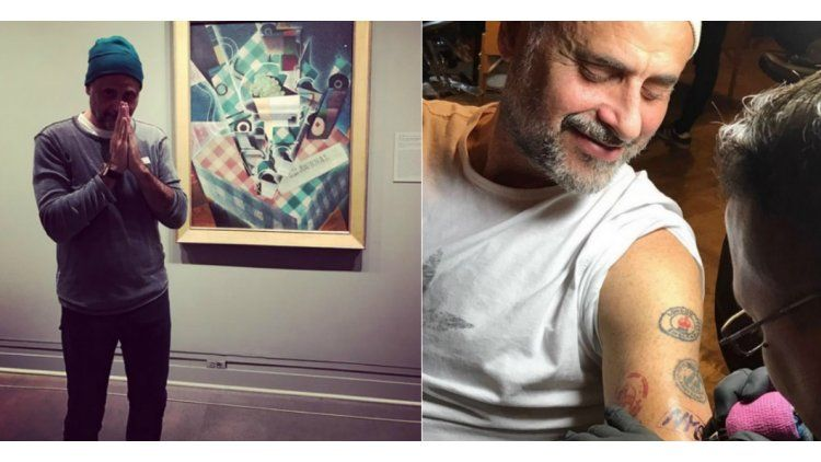 Jorge Rial se hizo un tatuaje de Frida Kahlo.