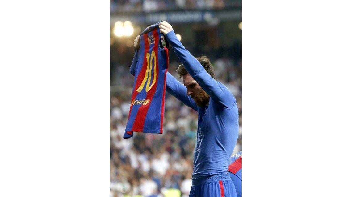 El histórico festejo de Messi
