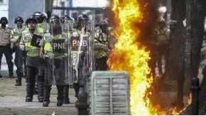 Violencia en las manifestaciones contra el Gobierno de Maduro
