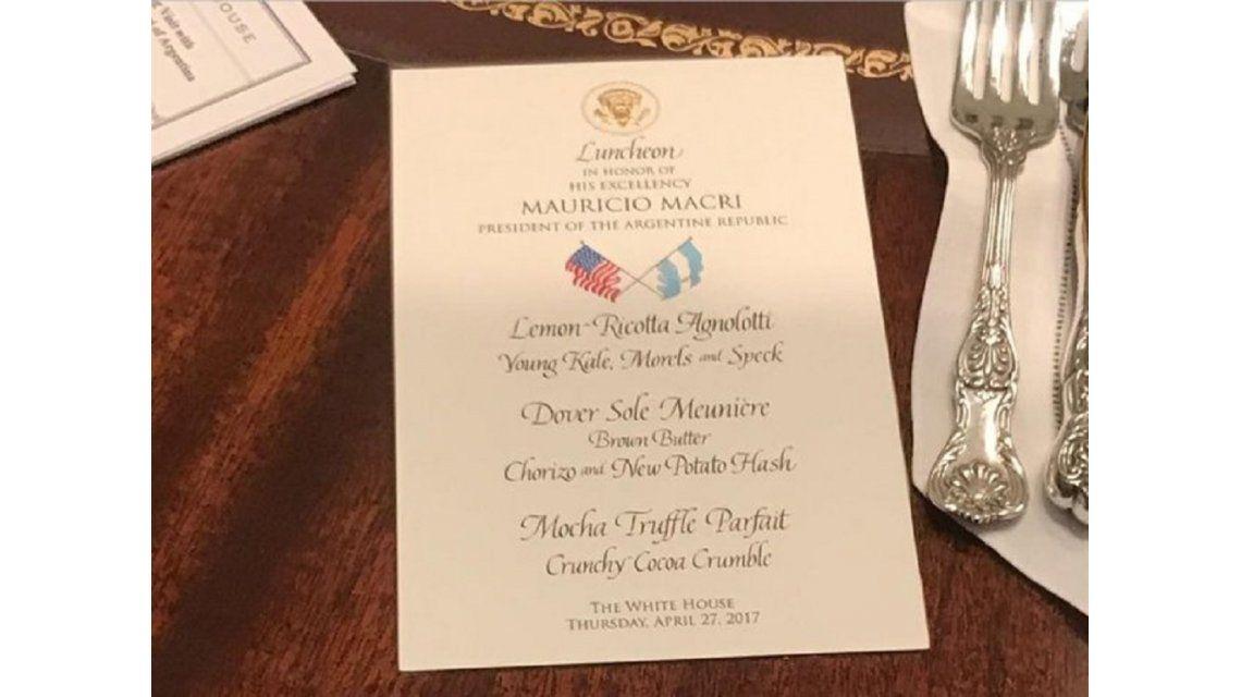 El menú que compartieron Macri y Trump