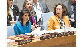 La embajadora de Estados Unidos ante laONU, Nikki Haley, habló sobre Venezuela