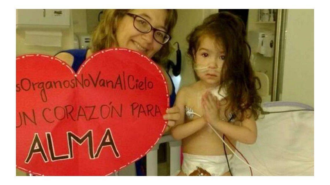Triste: murió Alma, la nena que esperaba un trasplante de corazón
