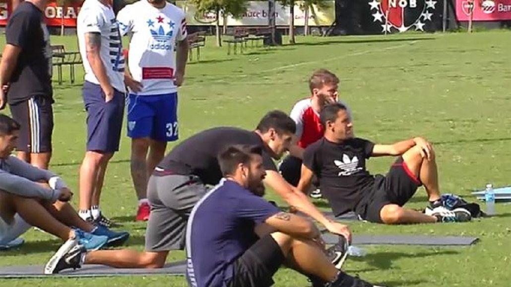 Los jugadores de Newell´s llevaron su propia ropa al entrenamiento