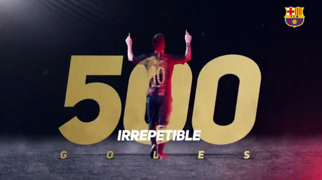 Barcelona le dedicó un emotivo video a Lionel Messi por sus 500 goles