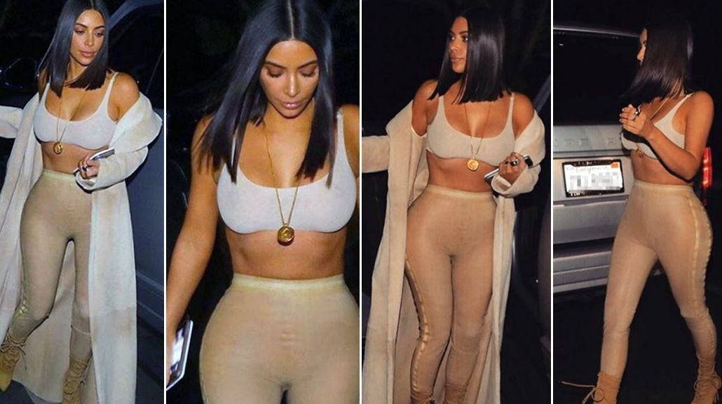 Kim Kardashian en color nude