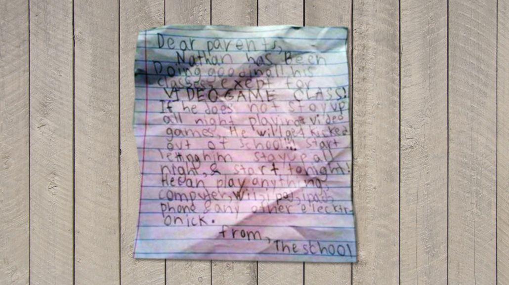 La carta de un nene para que lo dejen jugar a los videojuegos