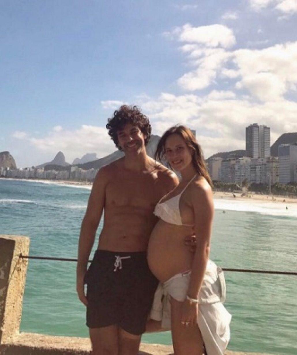 La novia de Mariano Martínez mostró su panza de casi siete meses