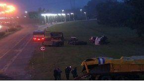 El accidente ocurrió en el kilómetro 56 de la autopista