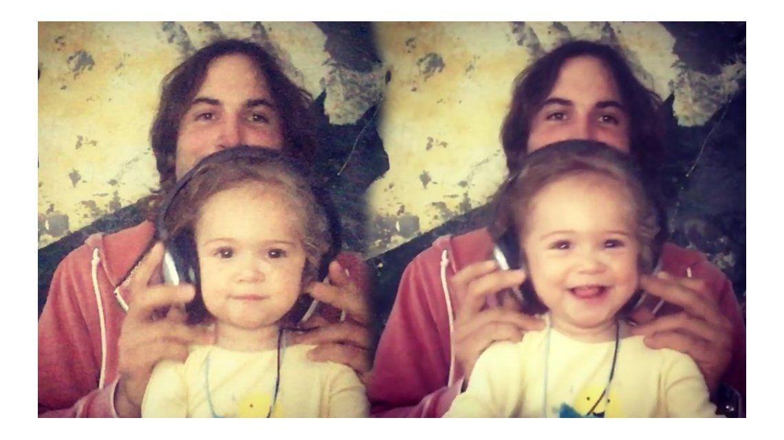 Mirá el video más tierno del marido de Zaira Nara cantándole a su hija