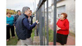 Macri y Vidal encabezaron un timbreo en Lobos