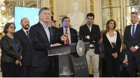 Macri desde el Salón Blanco de la Casa Rosada